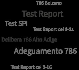 Adeguamento 786 - Test Report - Test SPI - Test SPG - Delibera 786 Alto Adige - Test Report cei 0-21 - 786 Bolzano Test Report cei 0-16